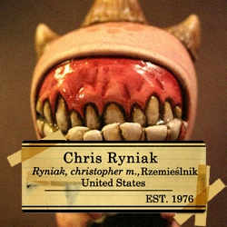 The grotesque yet strangely cutie-pie monsters of Chris Ryniak.