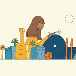 California Inspires Me: Rashida Jones by Jack Cunningham. A beautifully animated piece looking at 70's socal life!