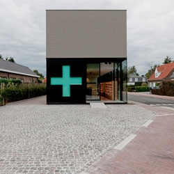 Pharmacy M near Ghent designed by Caan Architecten.