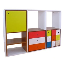 Really good Portuguese furniture - I love the colors. by Bombaamor