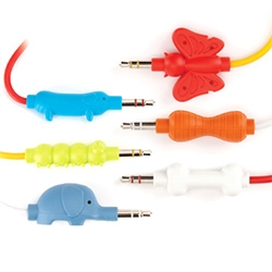 Griffin Technology has some of the cutest AUX Cables - the KaZoo Collection ~ dachshund to bone, elephant to peanut, or caterpillar to butterfly.