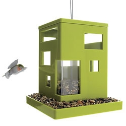 Bird Cafe/feeder - Polystyrene, ABS, steel airline wire cable and steel S-hook