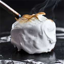 Half Baked Harvest's Meringue Encased Chocolate Mousse S'more Cakes. So much easier than you think and no special tools needed!
