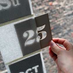 Light dependant, lazer cut perpetual calendar created by Chelsea Rae Nordstrom.