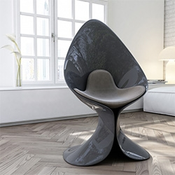 Calla Chair designed by Simone Cappellanti for ZAD Italy. Made of Adamantx.