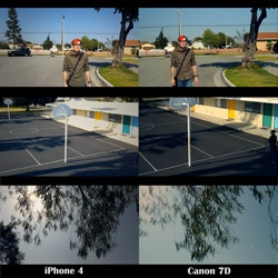 A short film comparing the capacities of the iPhone 4 camera to the Canon 7D. Watch and judge !
