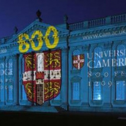 Stunning light show created by ETC to mark Cambridge University 800 year anniversary.