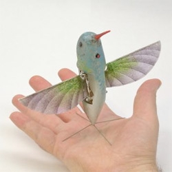 AeroVironment's Nano Air Vehicle ~ hummingbird. DARPA funded robotic biomimicry for reconnaissance and surveillance capabilities in urban environments. See the videos!