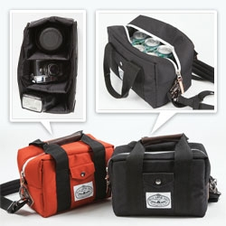 Poler's Camera Cooler! yes ~ this DSLR camera bag can double as a cooler to hold your 6 pack when you pull the dividers back!
