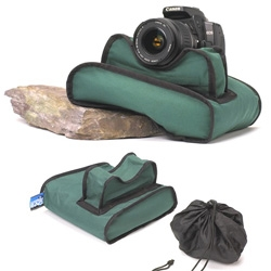 Camera Stabilizing Bag ~ nice idea for dslrs...