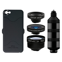 iPro Lens System ~ another case/lens set for your iPhone and Galaxy S4. Macro, 2X, Wide Angle, Super Wide Angle, and Fisheye options.