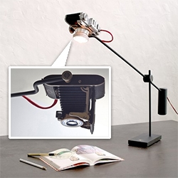 Y Studio Camera Lights - antique cameras reborn as desk lights!