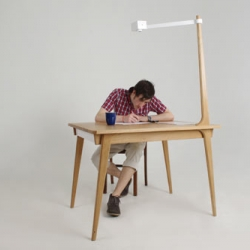 David Franklin's Delen Memory Table has an attached camera that takes photos at predetermined times so you can create stop-motion of whatever it is you're doing.