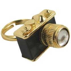 Also from Fred Flare - the tiny Camera Ring - might be more fun if you could shoot pics with it... someday perhaps.
