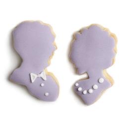 Polka Dot Cookies has adorable cameo silhouette mini cookies!
