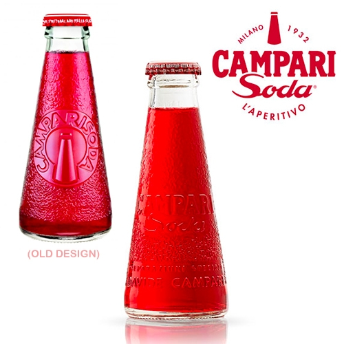 The iconic Campari Soda gets a redesign/upgrade... different, but still lovely and adorable.
