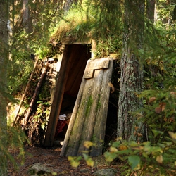 Around Britain with a Paunch goes camping in the woods of sweden ~ the cabins are absolutely adorable! Hidden in the forest covered in shrooms and grass and more...