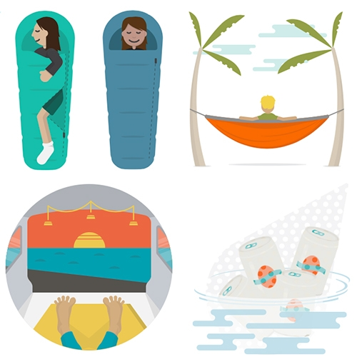 CampMojis from BioLite! Everything from River Beer, Van View, and Sleeping Leg to Hammock Happiness, Fire Trance, Pee with a View and more... Spot the tiny BioLite Sitelights in the CampMojis?