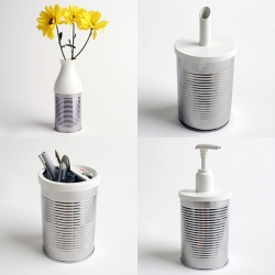 Set of 9 plastic lids that turns your can into usable objects. Designed by Jack Bresnahan.