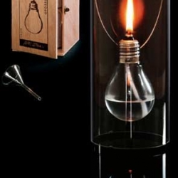 A candle made from a simple bulb. It can be so romantic for a late dinner with your girlfriend