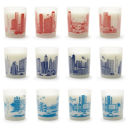 Maison Francis Kurkdjian for The Standard - City Candles! Los Angeles, Miami, and New York. LA smells like a hike to the hollywood sign. New York smells like a grassy night walk through the highline. Miami smells like lush life in the tropical city.