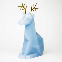 "PyroPet Dýri Candle - a reindeer holiday version of their classic cat with metal skeleton. ""Dýri is a short for hreindýr, which means reindeer in Icelandic. But it also means beast. - Unleash the beast!"""