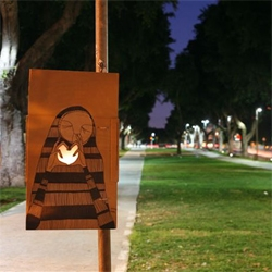 KNOW HOPE is an artists from Tel-Aviv who creates handmade drawings out of paper and then lites them up with candles.