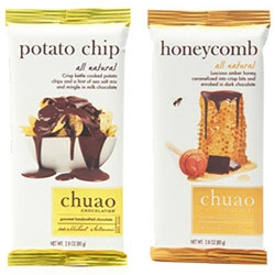 A peek at Chuao's new chocolate bars ~ from Honeycomb in Dark Chocolate and Crisp kettle cooked potato chips and a hint of sea salt in Milk Chocolate ~ to new maple bacon, firecracker, spicy maya variations and more!