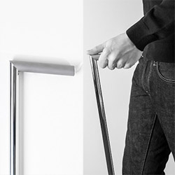 A sleek, modern cane from The Federal.