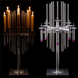 Stainless Steel Candelabra by David Mellor