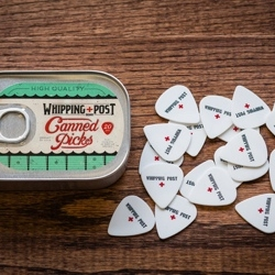 Canned guitar picks.