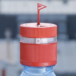 Vittel Refresh Cap by Ogilvy Paris - since most people forget to drink enough water, every time you seal the bottle, it starts the one hour timer... and then the flag pops up!