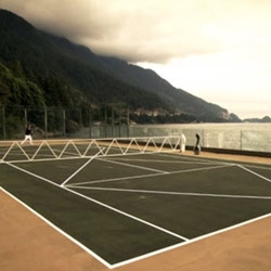 Checked out SciFi/Syfy's Caprica ~ and there are some fun inspiring design details in the alternate reality they have created! Love the tennis court...