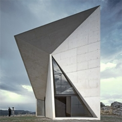Spanish based Sancho-Madridejos Architecture Office designed a chapel that looks like a perfect object in the middle of the landscape.