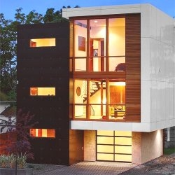 A new house in Seattle, Washington.  Designed by Pb Elemental Architecture.