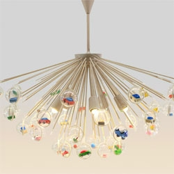 "Capsule Lamp by Hong Kong-based Design Systems Ltd - "" the fun starts when you attach the little plastic capsules – in any combination and quantity you like with all sorts of little treasures in them."""