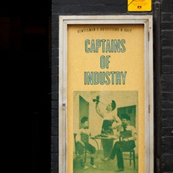 "Captains of Industry - a Melbourne collaboration of a Tailor, Shoemaker and Hairdresser. ""...a one-stop-shop for all your gentlemanly needs."""