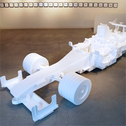 Latest from our friend Michael Salter ~ a life sized F1 race car made from recycled styrofoam!!!!!! Totally amazing, see it in person if you're in Portland!