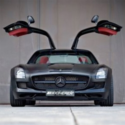 Kicherer has just unveiled the Mercedes SLS Supersports Black Edition featuring aggressive body kit, matte-black paint job with black wheels, interior laden with plush maroon, and engine boosted to 620hp.