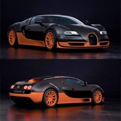 The worlds fastest car. The Bugatti Veyron Super Sport.