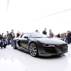 Audi at CES ~ their booth is a mesmerizingly glowing oasis you can't help but be drawn into. Beautifully designed!
