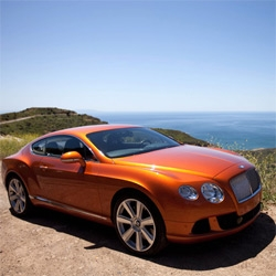 "2012 Bentley Continental GT ~ as promised, here is a look at the ""Orange Flame"" exterior from all sides up in Malibu Canyon. The lines are so crisp and glow in the sunshine!"