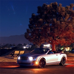 3am photoshoot with the Bentley Supersports Convertible ~ under the bright moon and stars, pch down below, and overlooking endless ocean. A fun look at how differently Shawn and I interpreted the car.