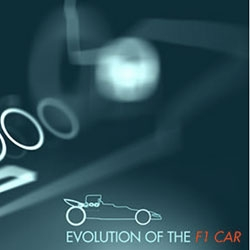 The evolution of the F1 car. From 1950 to today.