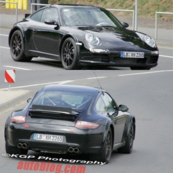 Could it be? Are these really spy shots of the Porsche 998 911 mule for 2010?