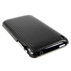 Real carbon fiber case for the Apple iPhone 3G.  Made from the same carbon fiber fabric as Ferrari.