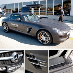 Carbon Fiber Wrapped Mercedes AMG SLS ~ its kind of incredible ~ especially when you look closely at the details!