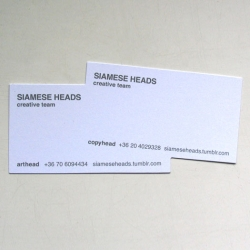 A siamese business card. Which raises a question: why do they need 2 phone numbers?