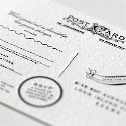 Pomegranita's beautiful design for Jennifer and Christian's wedding invitations