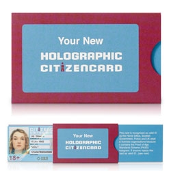 The new Holographic CitizenCard has been presented this month in a smart and compact slider pack, designed by Burgopak. The proof-of-age ID card is PASS Accredited and available to all residents of Britain and Ireland.